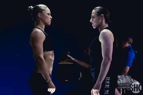 Ronda Rousey and Sarah Kaufman