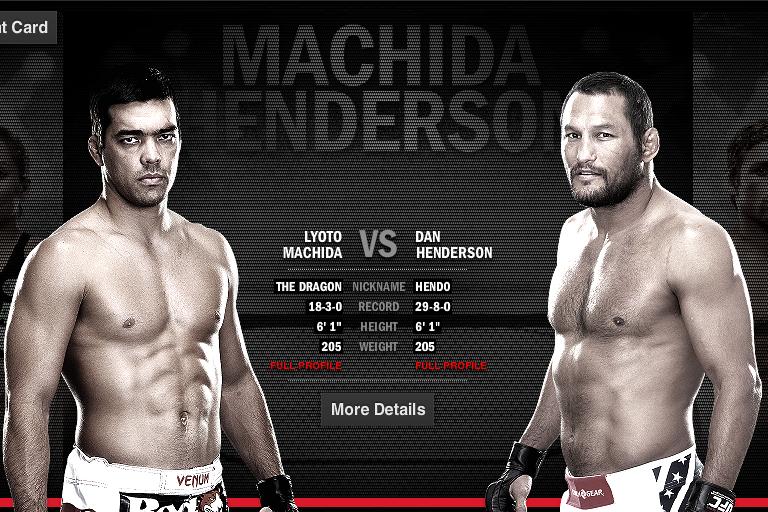 Henderson vs Machida