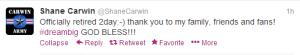 Carwin Retires