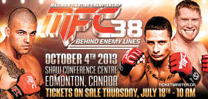 MFC 38 ON SALE LIVE OCT 4 Edmonton Canada